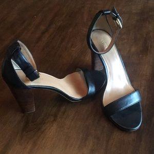 Black Jcrew sandal heels